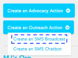 Create an SMS broadcast