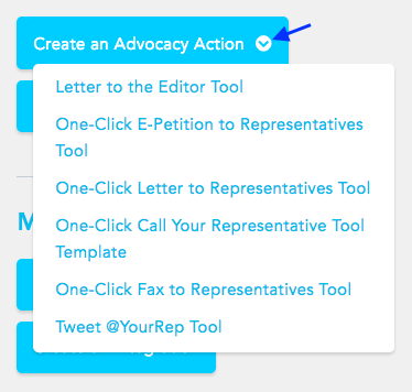 Create an advocacy action
