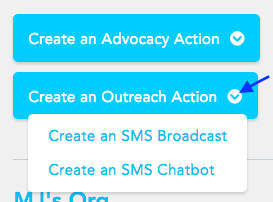 Create an outreach action