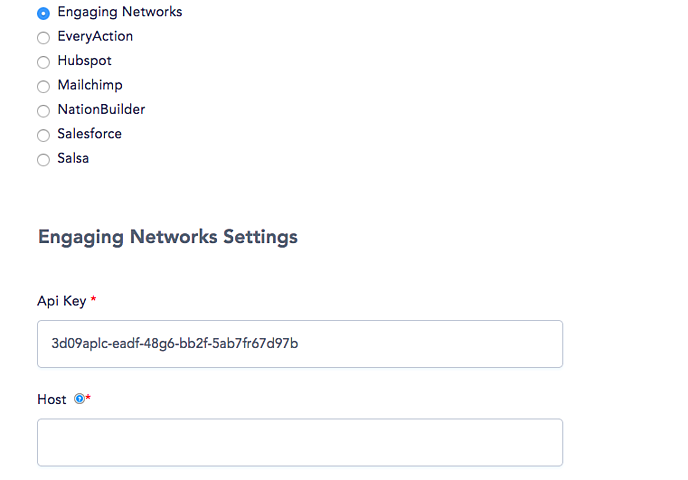 Engaging Networks Settings-1